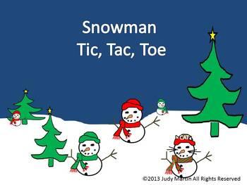 Snowman Tic, Tac, Toe