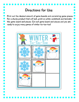 Winter Tic-Tac-Toe:FREE!