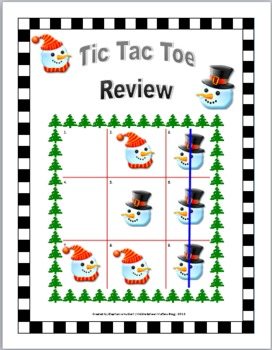 Winter Tic Tac Toe Review for Any Subject