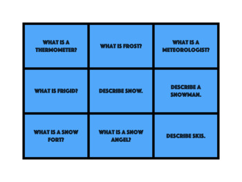 Winter Time Articulation, Grammar, and Vocabulary Game