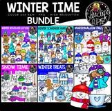 Winter Time Clip Art Bundle {Educlips Clipart}