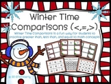 Winter Time Comparisons (Greater Than, Less Than, or Equal To Practice Mats)