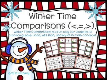 Winter Time Comparisons (Greater Than, Less Than, or Equal