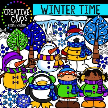 Winter Time {Creative Clips Digital Clipart}