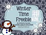 Winter Time Freebie