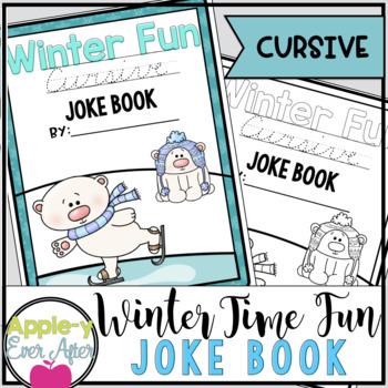 Winter Time Fun CURSIVE Joke Book Bundle