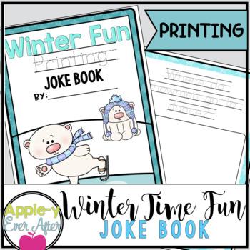 Winter Time Fun PRINTING Joke Book Bundle