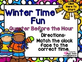 Winter Time Fun Quarter Before the Hour PowerPoint Interac