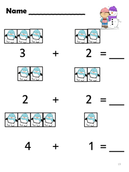 Winter Time Fun With Math - K and Grade 1
