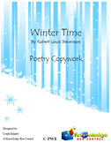 Winter Time - Poetry Copywork