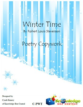 Winter Time - Poetry Copywork