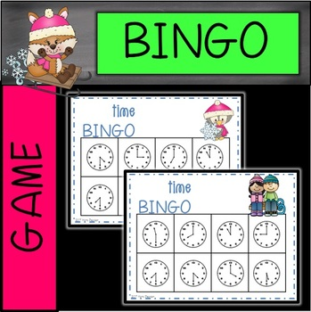 Winter Time to the Hour and Half Hour Bingo