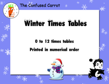 Winter Times Tables