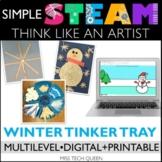 Winter STEAM Challenge - Snow Craftivity