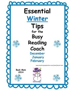 Winter Tips for Literacy Coaches, Reading Coaches, and Reading Specialists