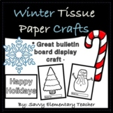 Winter Tissue Paper Crafts or Colouring - Fine Motor Activ