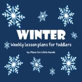 Winter Toddler Lesson Plan