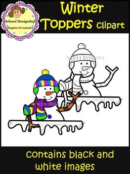 Winter Toppers Clip Art (School Designhcf)