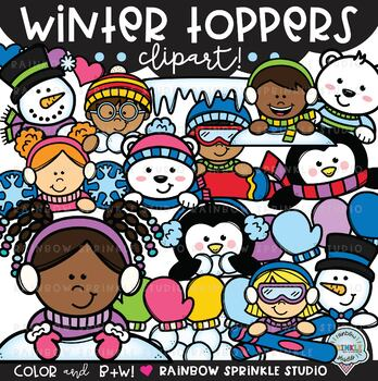 Winter Toppers Clipart {winter page toppers}