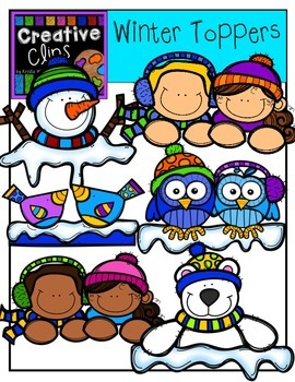 Winter Clipart Toppers {Creative Clips Clipart}