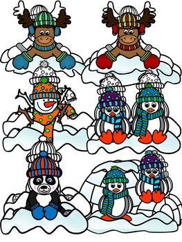 Winter Toppers & Friends Clipart- Commercial & Personal Use (55 images)