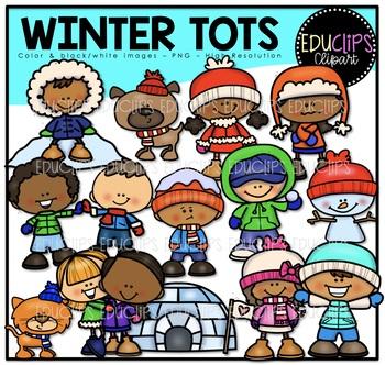 Winter Tots Clip Art Bundle {Educlips Clipart}