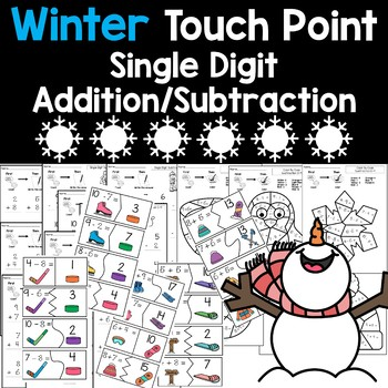 Winter Touch Point Addition/Subtraction (Touch Math)