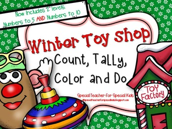 Winter Toy Shop * Color, Count, Tally & Do- Instant and Interactive Math