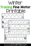 Winter Tracing Fine Motor Activity - Active Littles