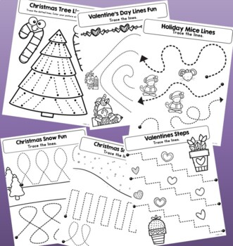 Fine Motor Skills - Tracing Lines Fun  {Winter}