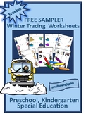 Winter Tracing Worksheets, Line Tracing,Fine Motor Skills,Special Education,Free