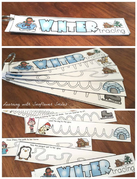 Winter Tracing and Vocabulary Booklet