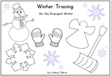Winter Tracing for Emergent Writers