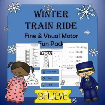 Winter Train Ride Handwriting and Fine Motor Fun Pack