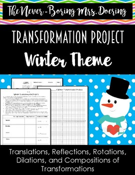 Winter Function Transformation Project Activity for Geometry/Algebra