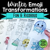 Winter Geometric Transformations Activity with Emojis