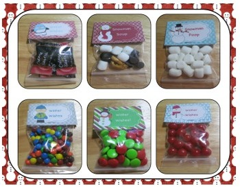 Winter Treat Bags - Bag Toppers