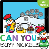 Winter Treats: Count How Many Nickels up to 10 Kindergarte