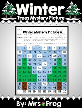 Winter Tree 120 Chart Mystery Picture