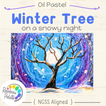 Winter Tree Easy Art Project Oil Pastel