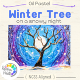 Easy Art Project Winter Tree Oil Pastel Digital Lesson Plan