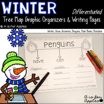 Winter Tree Map Graphic Organizers & Writing