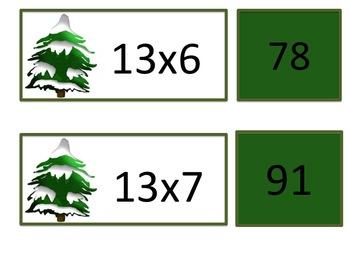 Winter Tree Multiplication Math