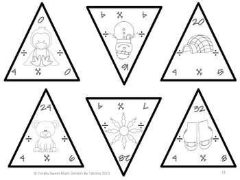 Winter Triangles- Multiplication and Division Edition Facts 0-12