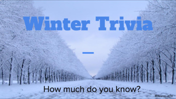 Winter Trivia Cards and Powerpoint