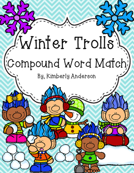 Winter Trolls Compound Word Match