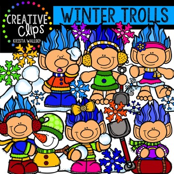 Winter Trolls {Creative Clips Digital Clipart}
