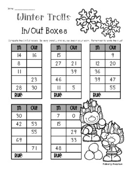 Winter Trolls: In / Out Boxes - Number Patterns / Rules