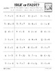 Winter True or False Addition Color Sorting Worksheet Pack - Add, Sub. and Mixed