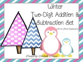 Winter Two-Digit Addition & Subtraction Set